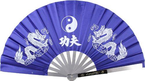 Japanese Tessen-Jutsu Iron Fan Tai Chi Blue – DiscountWind