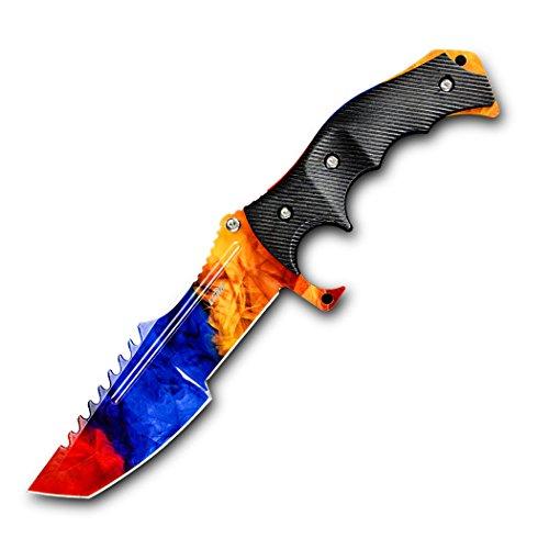 CIMA Huntsman CS:GO Knife, Multi-color Full Tang Fixed Blade