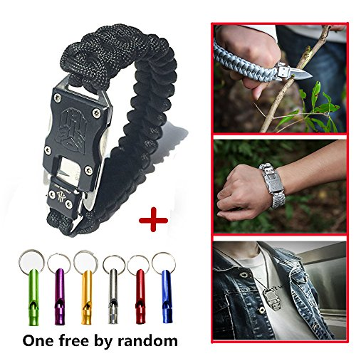EDC Paracord Survival Bracelet tactical style Cycling Hiking Camping Outdoor