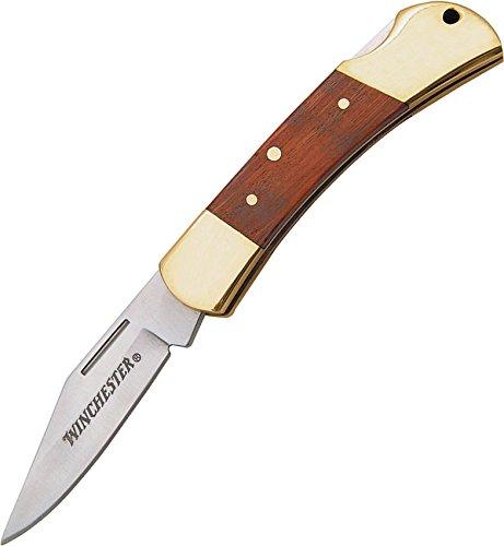 Winchester Folding Knife 3 Inch Wood Handle Fine Edge