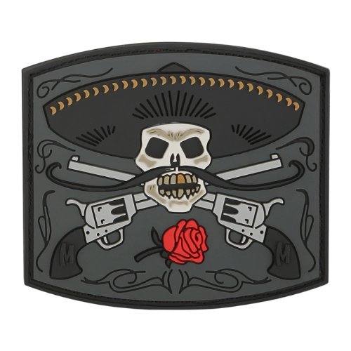 Angry Flying Bullet Subdued Grey Morale PVC Rubber Hook Patch BY MILTACUSA