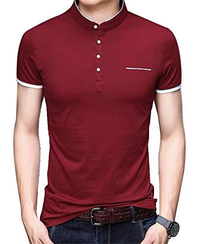 Giuoke Mens Long Sleeve T Shirts Casual Round Neck Cotton Keeping Warm Sweater-Shirt