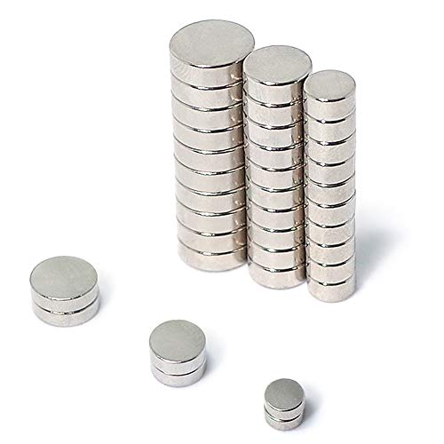 16PC 8Pcs Magnets with Double-sided Adhesive 8Pcs Mini Magnets Multi-Use for Fridge door Whiteboard Magnetic map Magnetic Screen Door Bulletin board Refrigerators Neodymium Disc Magnets