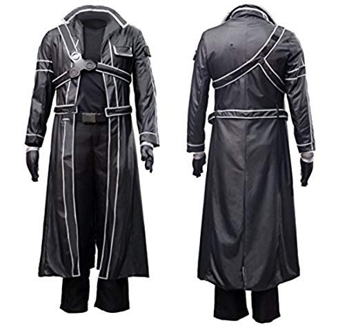 """Men/'s Cosplay Kirito Belt Sturdy Reusable Faux Leather Fits 25/""""-45/""""Waist Sizes"""