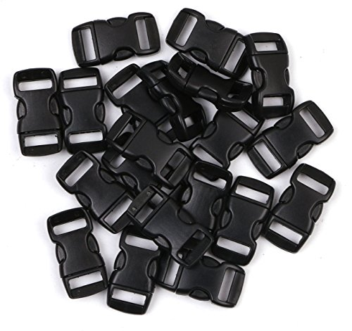 Webbing Use Plastic Buckles For Backpacks 550 Paracord Buckles Paracord Bracelet Buckles Ravenox 3//8-Inch Contoured Buckle Quick Release Buckle with Curved Side Release Tactical Gear Bags